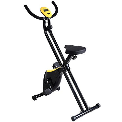 Giantex Foldable Exercise Bike Compact Indoor Cycling Home Workout Equipment