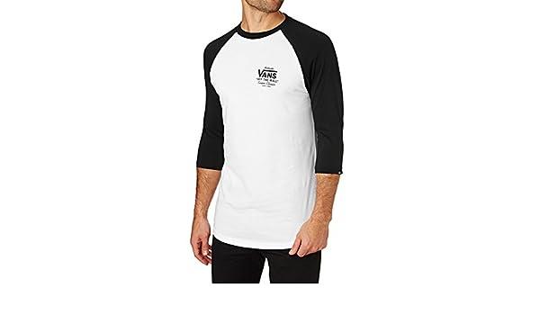 9bcf0df8e83 Amazon.com  Vans White-Black Holder ST Raglan T-Shirt (XXL