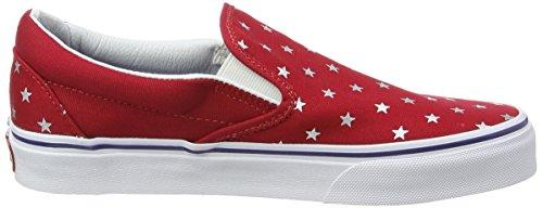 Vans U CLASSIC SLIP-ON STUDDED STARS - zapatilla deportiva de lona Unisex adulto multicolor - Mehrfarbig ((Studded Stars) red/blue)