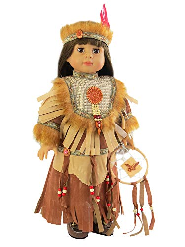 Girl American Madame Doll Alexander - Native American Dream Catcher Outfit | Fits 18