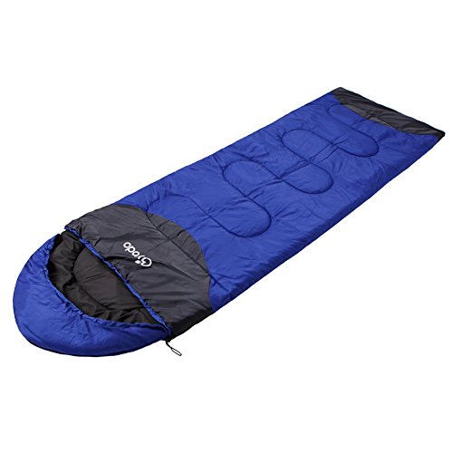 Yodo Compact Warm Weather Sleeping Bag 40-60 Degree F Zippable Lightweight for Spring Summer Backpacking Hiking Sports Travel with Compression Sack for Women and Men, Left Zip, Royal Blue (Double Sided Stuff Sack compare prices)