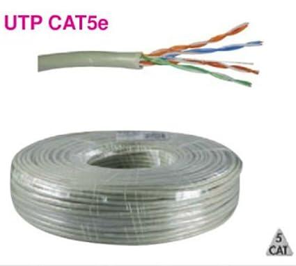 MICROELETTRONICA - Cable UTP CAT5e alambre rígido de 4 x par trenzado red telefónica
