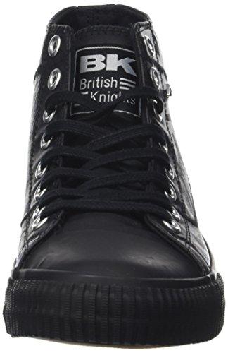 British Knights Herren Slider Hohe Sneaker Schwarz (Schwarz / Weiß)