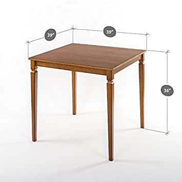 Zinus Counter Height Square Wood Dining Table Table Only