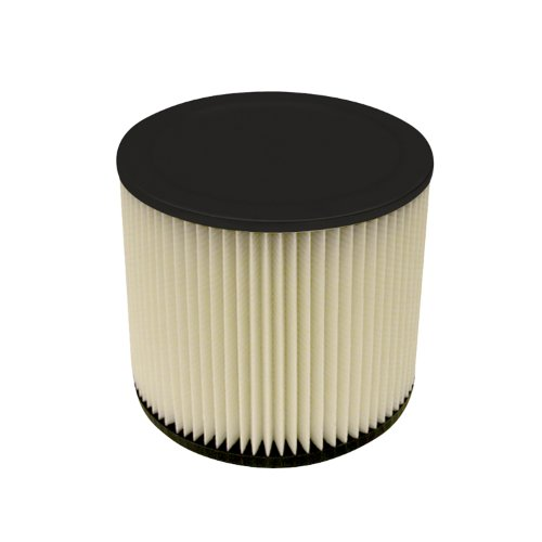 Multi-Fit Wet Dry Vac Filter VF2007 Standard Wet Dry Vacuum Filter (Single Shop Vacuum Cleaner Filter Cartridge) Fits Most 5-Gallon or Larger Shop-Vac, VacMaster and Genie Shop Vacuum Cleaners
