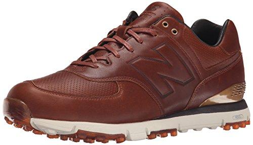 New Balance Men's NBG574LX Golf Shoe, Brown, 10.5 4E US