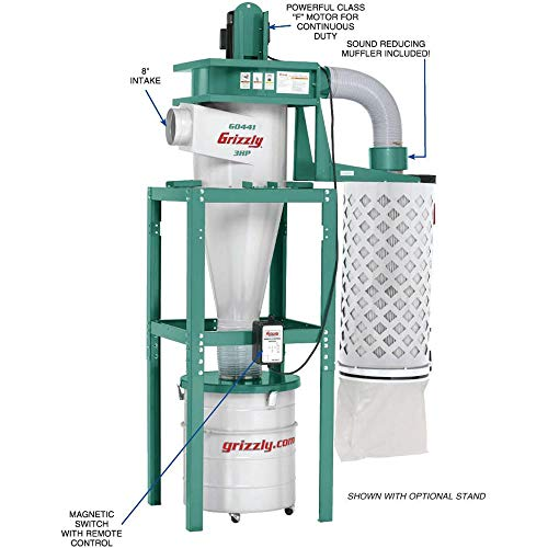 Grizzly G0441 3 HP Cyclone Dust Collector