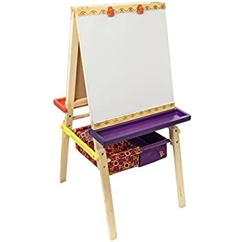 B. Toys Easel Does It Wooden Art Easel with Chalkboard, Whiteboard, and Storage Bins