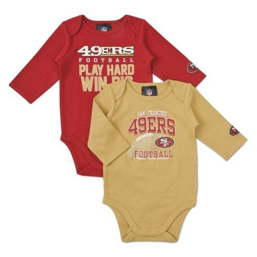 NFL San Francisco 49Ers Boy's Long Sleeve Bodysuit