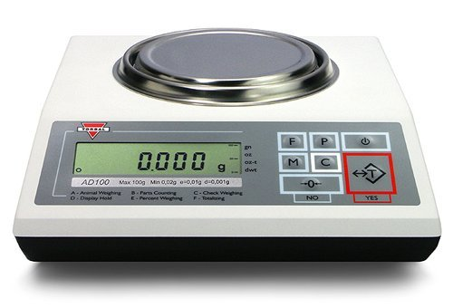 Torbal AD60 Precision Scale, 60g x 0.001g (1mg Readability), Electromagnetic Load-cell, USB, Die-Cast Metal Housing, Backlit LCD