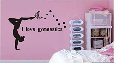 Large--Easy instant decoration wall sticker wall mural Gym-I love Gymnastics (an009)