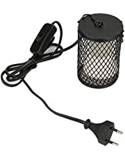 Gadowa lampa grzewcza, grzejnik promiennikowy zwierząt Terrarium lampa grzewcza gadów dla jaszczurki / brodatego smoka / kurczaków / węża / żółwi (220-230 V 100 W czarny)