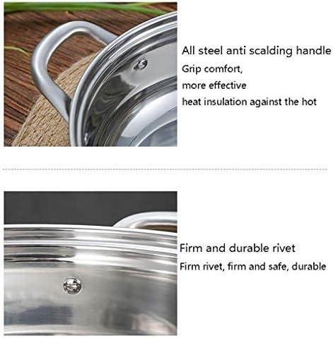MKXF Marmite avec poignées Doubles résistantes à la Chaleur, antiadhésif Facile à Nettoyer, Grande capacité