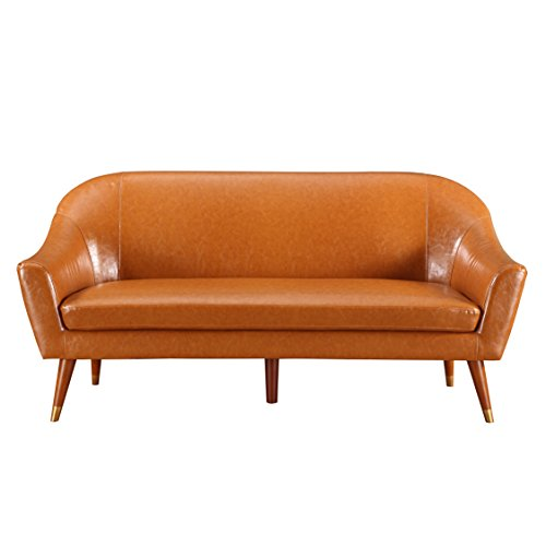 Divano roma furniture mid century modern sofa bonded for Amazon mid century modern furniture