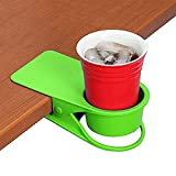 Supercope Drinking Cup Holder Clip- Chair Table Bottle Cup Stand The DIY Glass Clamp Storage Saucer Clip Water Coffee Mug Holder Saucer Clip Design Home & Office,Green