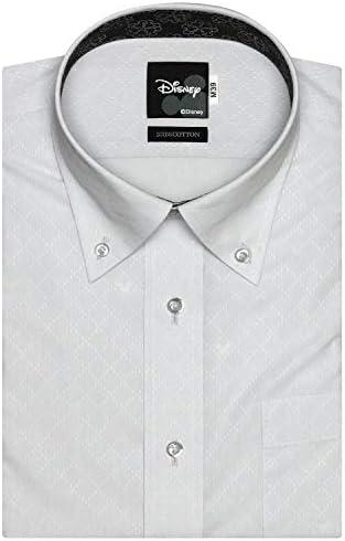 ブリックハウス Disney ディズニー ワイシャツ 半袖 形態安定 ボタンダウン Just Style メンズ BM010210AB46B4D-30