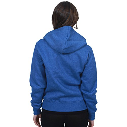 MALAIKA lunghe cappuccio Cappuccio con Maniche Felpa Donna Blue Basic Royal rqx7OErn