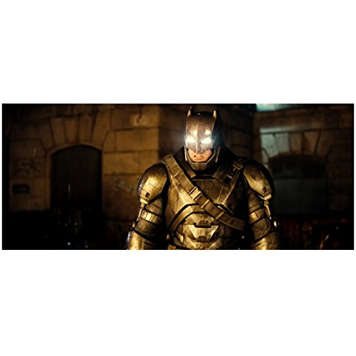 Batman V Superman: Dawn of Justice (2016) (8 inch by 10 inch) PHOTOGRAPH Ben Affleck Eyes Glowing White in Gold Costume -