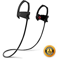 Bluetooth Headphone Wireless Sports Earphone V4.1 Heavy Bass Stereo Sound In Ear Headset Noise Isolating Waterproof Earbud for Andriod and IOS with Mic