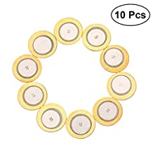 Healifty 10 PCS 35mm Diameter Film Gasket Piezo Piezoelectric Buzzer Piezo Disc Elements for Instrument