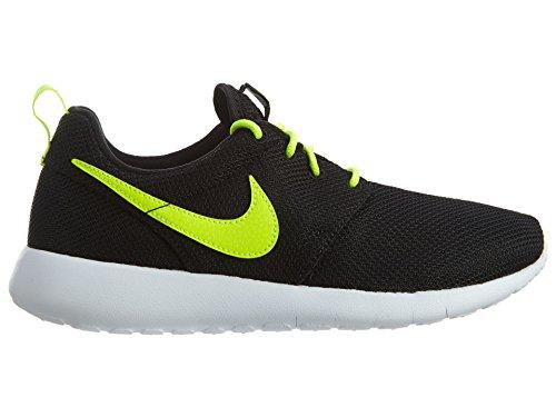 Nike Roshe Run 599728, Boys Running Shoes Black / Volt-white