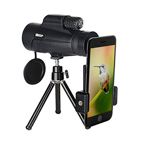 Monocular Telescope, High Powered Monocular Scope 12x50 with Phone Adapter and Tripod, Waterproof Fogproof Optics BAK4 Prisms, Single Hand Focus for Outdoors Like Bird Watching Hunting Camping Travel