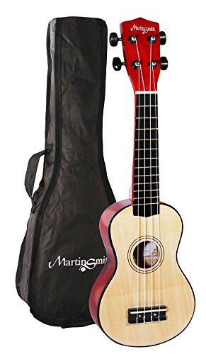 Martin Smith UK-212 - The ultimate Soprano Ukulele Starter kit, Natural