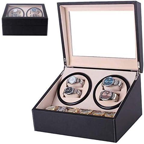 ワインディングマシーン 自動ウォッチワインダー腕時計ダブルボックスバッテリーウォッチローテータダブル2 + 3エレクトリック・ウォッチ収納ボックスシングルウォッチワインダー KANULAN (Color : 2+3 Reddish Brown)