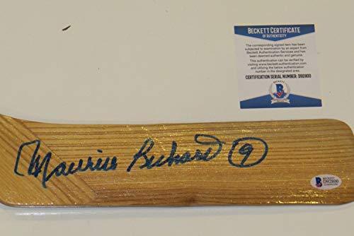 - Maurice Richard Autographed Signed Northland Full Size Hockey Stick Beckett Auth COA Bas