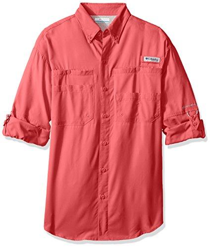 Columbia Sportswear Mens Tamiami II Long Sleeve Shirt, Camellia Rose, Large
