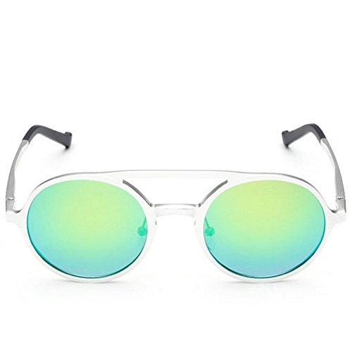 [Hikote #8576 Man Women Summer Driving Round Fashion Personality Sunglasses(C3)] (Morpheus Costumes Sunglasses)
