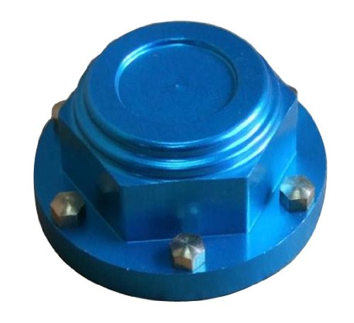 Beautyforall 2pcs Aluminum Alloy Wheel Lock Nut For 1/8 Off-road RC Car QYAL01-001 (Blue)