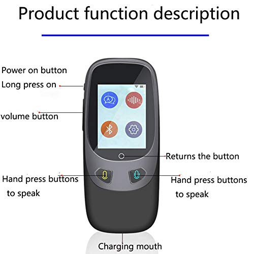 Window-pick Smart Voice Translator Device 4G WiFi Two Way Real Time Instant Language Translator Handheld Support 16 Languages for Learning Travel Shopping Business Black by Window-pick (Image #6)