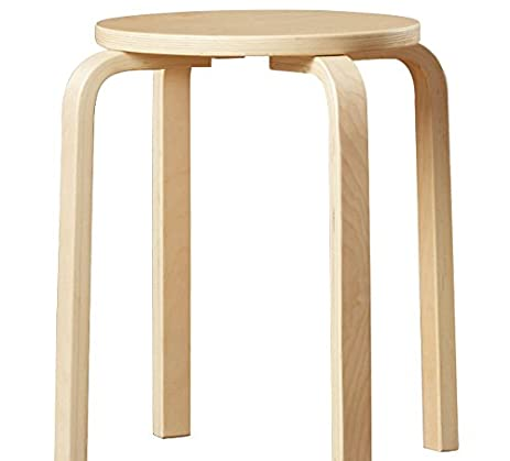 Amazon.com: Natural Bar Stools Counter Height 18 Inches Set of 4 ...