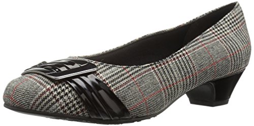Patent Style Pump Women's Dress Be Pleats Plaid Black You Black Soft with COpqx6xB