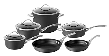 Calphalon Juego Contemporary antiadherente 10 piezas Cook and juego de sartén: Amazon.es: Hogar