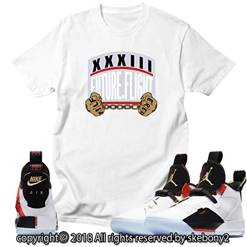 size 40 00d57 d83b7 Custom T Shirt Matching Style of Air Jordan 33 XXXIII Future Flight JD 33-1 -11