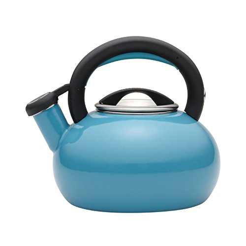 whistling tea kettle turquoise - 4