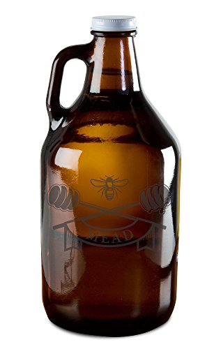 growler-with-honey-bee-mead-logo-etching