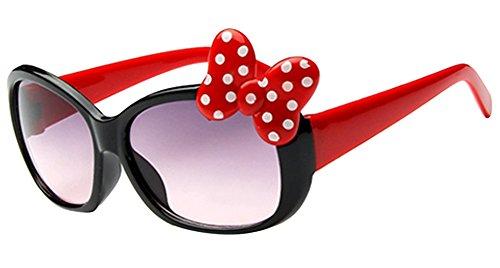 Zeroyoyo Fashion Kids Girls Boys Anti-UV Bow Glasses Sunglasses Cartoon Glasses - Sunglasses Cartoon Black