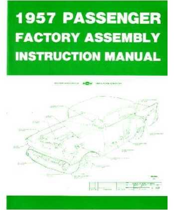 1957 CHEVROLET Assembly Manual Book Rebuild ()
