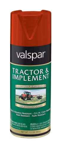 (Valspar 5339-02 MF Red Tractor and Implement Spray Paint - 12 oz.)