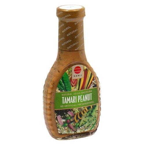 San-J Natural Asian Dressing, Tamari Peanut, 8 oz