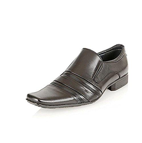 Mens Formal Office Italian Style Designer Dress Smart Wedding Slip On Shoes Size Black MzK6hT