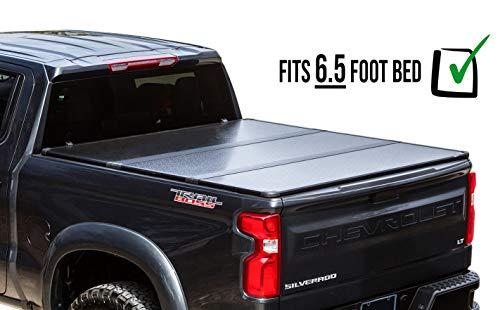 (RDJ Trucks Travel-PRO 65-Series Premium Hard Aluminum Tri-Folding Tonneau Bed Cover - Fits Silverado/Sierra 1500/2500 (6.5ft Bed) )