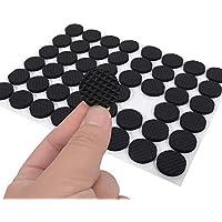 Clean Rubber Voeten Pads 1 Zak van 48 stks 2cm met Zelfklevende Meubels Vloerbeschermers met Trp Rubber (Zwart) Anti…