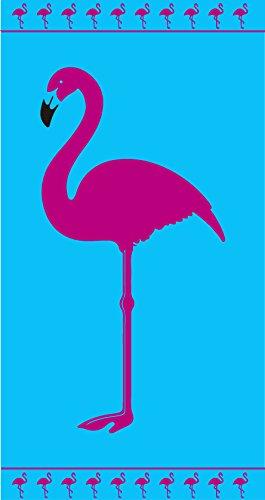 Toalla de playa 100% algodón egipcio 90x170 cm flamenco rosa: Amazon.es: Hogar