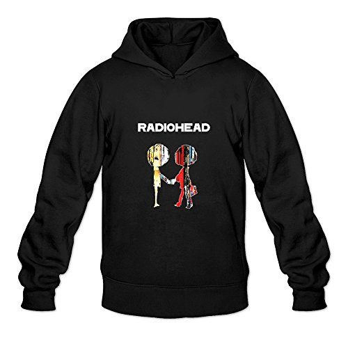 Men's Radiohead Spring Hoodies Sweatshirt Size XL US Black