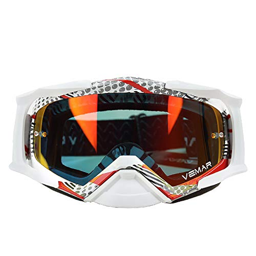 Price comparison product image June Sports Unisex Adult Motorcycle Motocross Snow Skiing Goggles ATV Racing Goggles Men Women Youth Dirt Bike Mx Goggle Safety Glasses Ski Snowborading P704 KG7