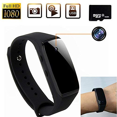 16GB 1080P HD Portable Wristband Covert Camera Smart Bracelet Video Recorder DV Cam Sport Camera -